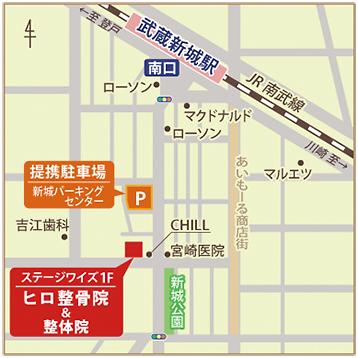 川崎市中原区ヒロ整骨院・整体院の地図