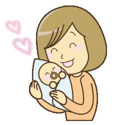 産後女性イラスト